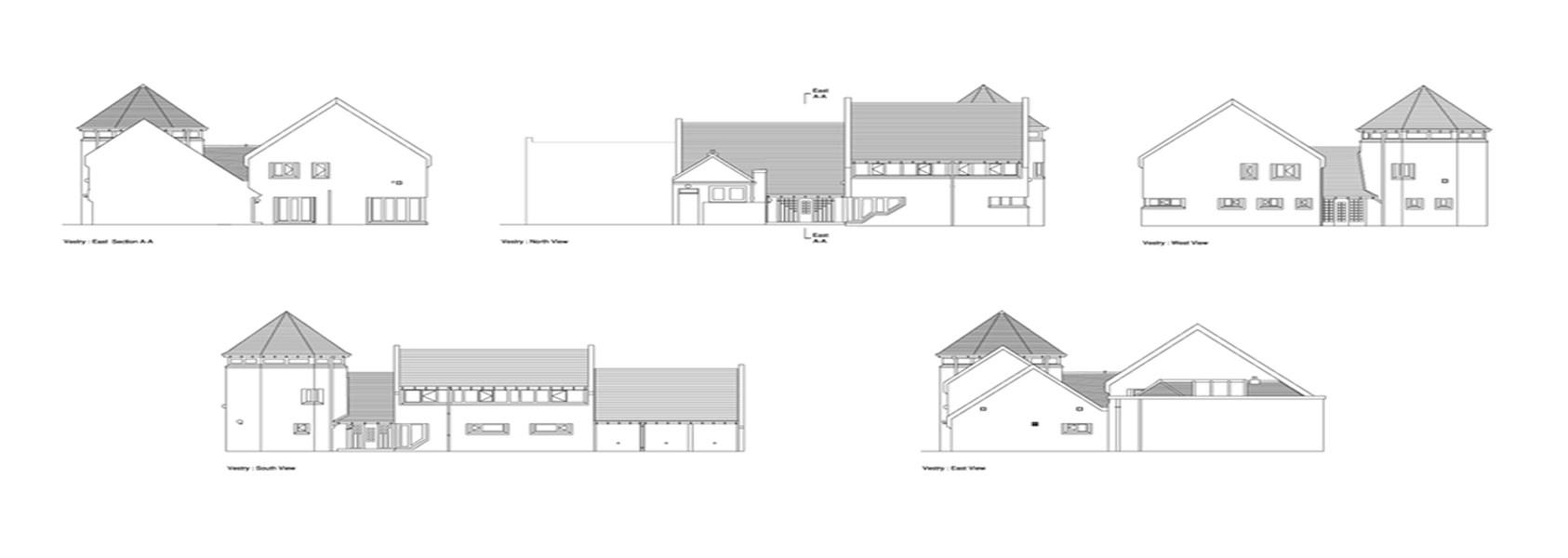 cad architectural plans and elevations